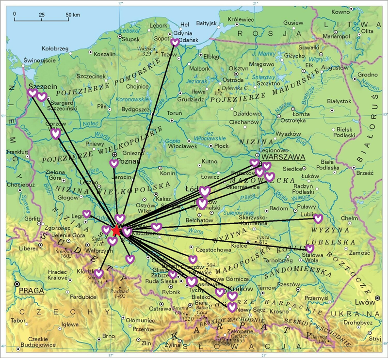 mapa tesseract